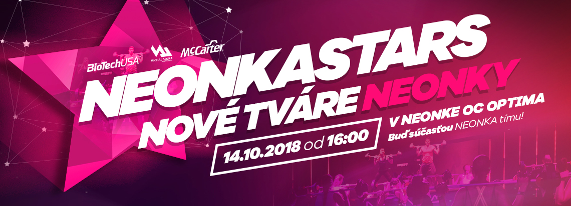eef7ff41b423 NEONKASTARS - NEONKA fitness centrum Košice - Optima – Cvič s nami!